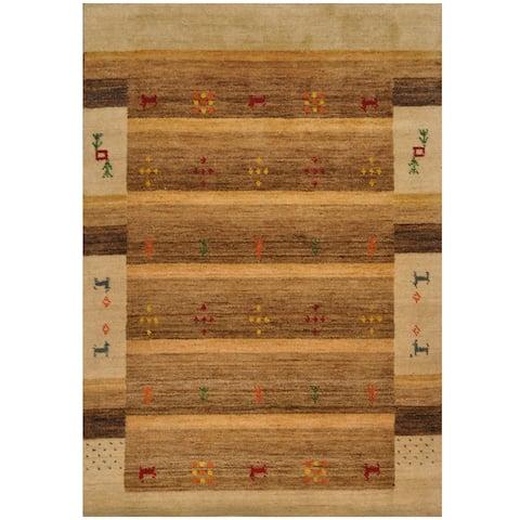 Handmade Gabbeh Wool Rug (India) - 3' x 5'