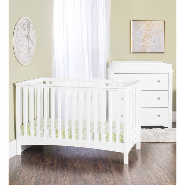 Forever Eclectic London 4-in-1 Convertible Crib-Matte White
