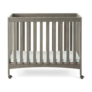 Forever Eclectic Folding Mini Crib Dapper Gray