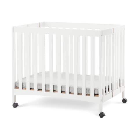 Forever Eclectic London Mini Folding Crib Matte White