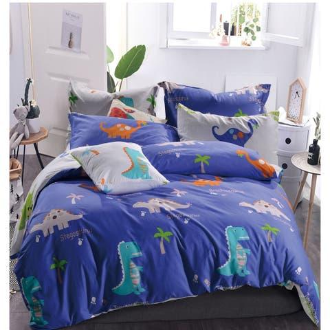 Porch & Den Hank Dino Cotton 3-piece Queen/Full Comforter Set