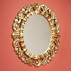 Garland Mohena Bronze Leaf Gold Floral Accent Wall Mirror (Peru)