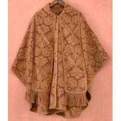 Handmade 'Desert Bloom' Reversible Wool Ruana Cloak (Peru)
