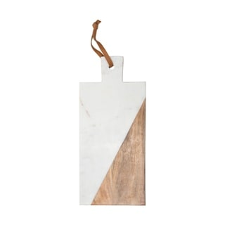 White Marble Wood Cutting Board Large