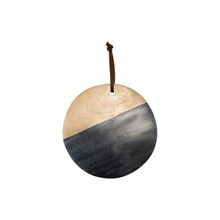 Black Marble Round Wood Cutting Board