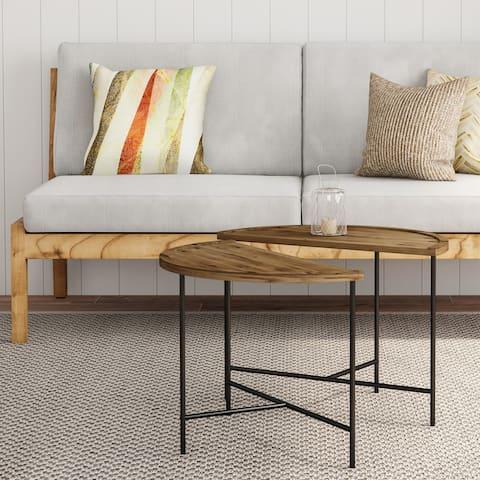 Carbon Loft Kreais Half Moon Coffee Tables (Set of 2)