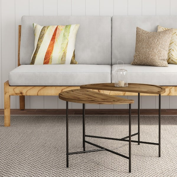 Carbon Loft Kreais Half Moon Coffee Tables (Set of 2). Opens flyout.
