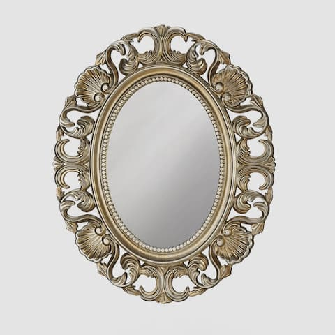 Vintage Style Gold Oval Wall Mirror