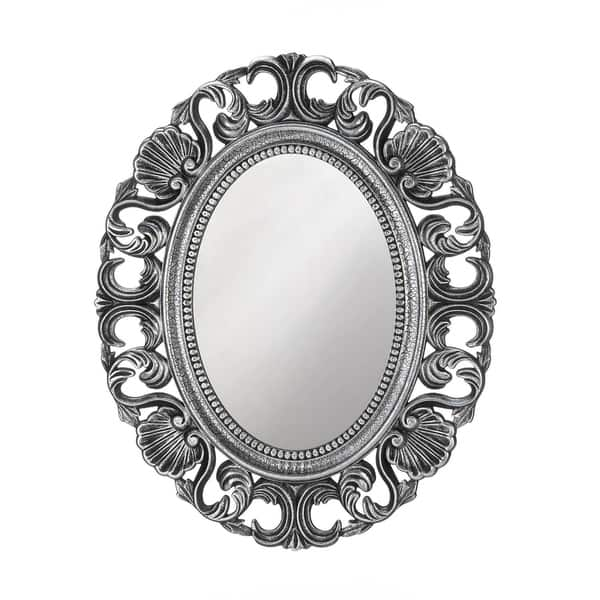 Shop Vintage Style Silver Oval Wall Mirror On Sale Overstock 28594604