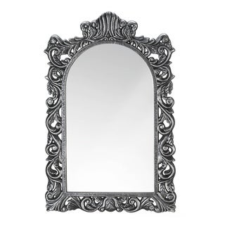 Vintage Style Arched Silver Wall Mirror