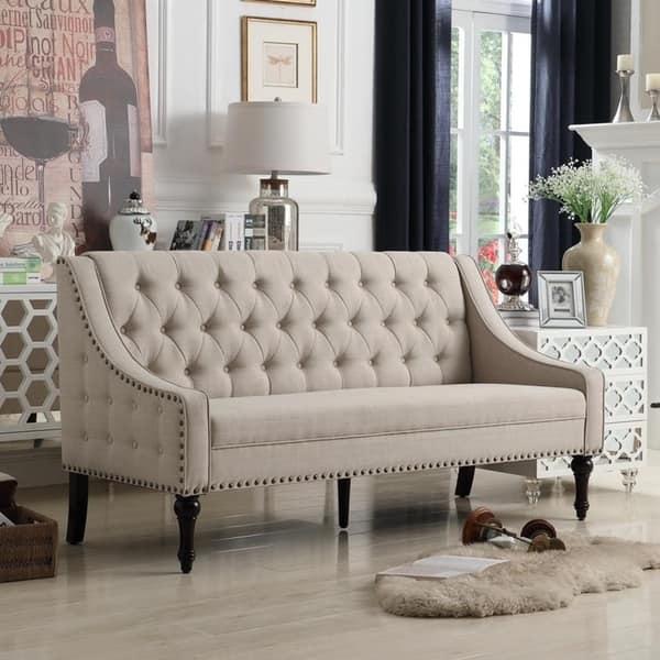 Fine Shop Rosevera Jamila Tufted Sofa On Sale Free Shipping Creativecarmelina Interior Chair Design Creativecarmelinacom