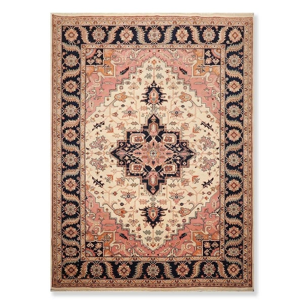 """Hand Knotted Wool Persian Oriental Area Rug Traditional Heriz Medallion (8'10""""x11'11"""") - 8'10"""" x 11'11"""""""