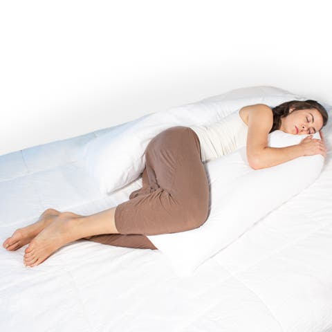 Science of Sleep Body Wrap Pillow - White