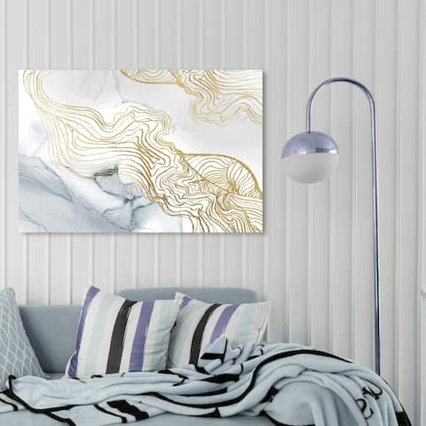 Oliver Gal 'Sublime Perception Light' Abstract Wall Art Canvas Print - Gold, Blue