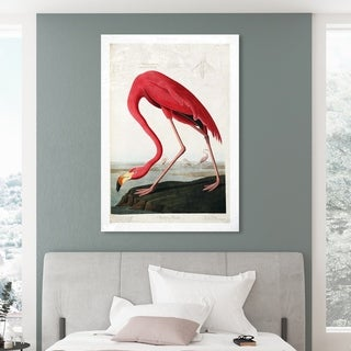 Oliver Gal 'American Flamingo' Animals Wall Art Canvas Print - Pink, White