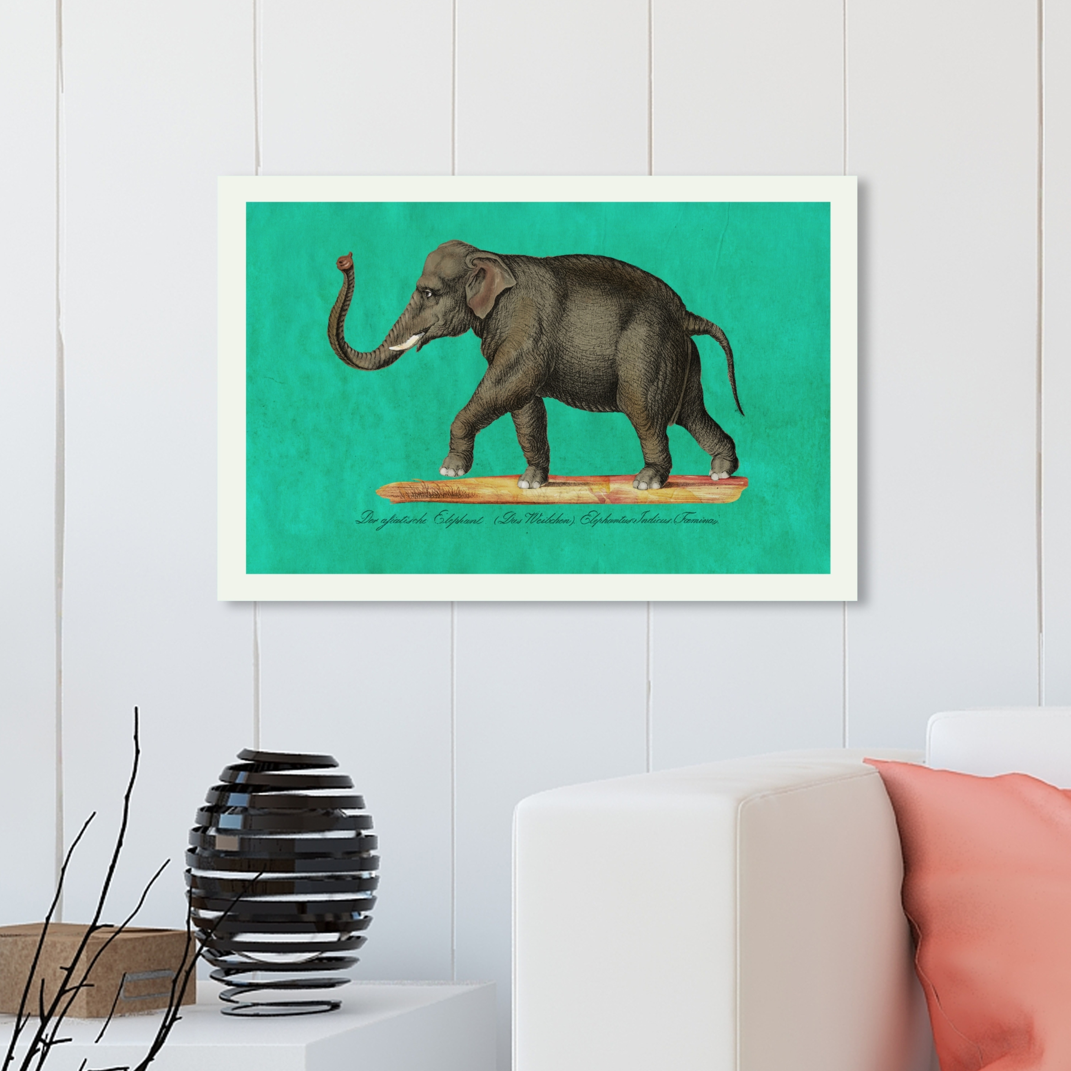 Oliver Gal Elephant Ii Animals Wall Art Canvas Print Green Gray Overstock 28595489