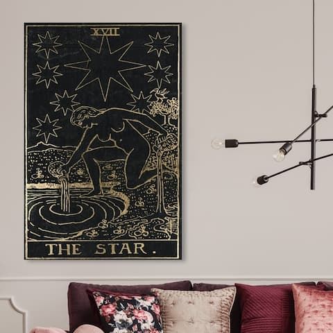 Oliver Gal 'The Star Tarot' Astronomy and Space Wall Art Canvas Print - Black, Gold