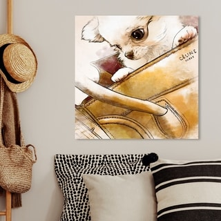 Oliver Gal 'Faithful companion Watercolor' Fashion and Glam Wall Art Canvas Print - Yellow, White