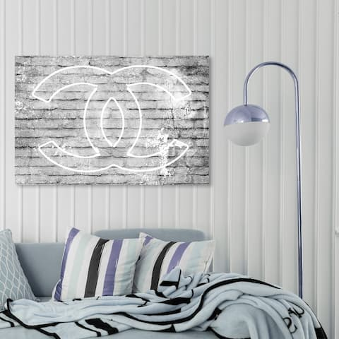 Oliver Gal 'All Glory Grey' Fashion and Glam Wall Art Canvas Print - Gray, White