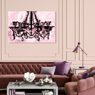 Oliver Gal 'Rosa y Negro' Fashion and Glam Wall Art Canvas Print - Pink, Black