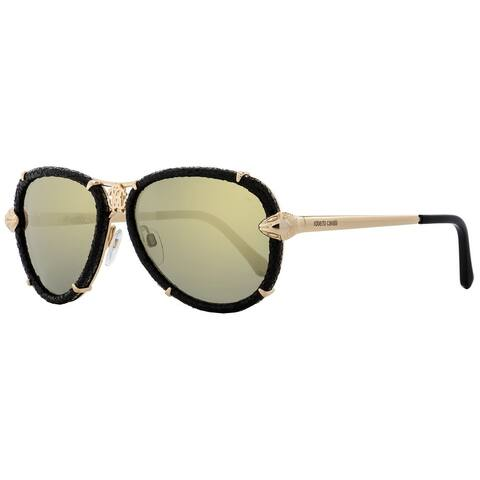 Roberto Cavalli RC885S Mebsuta 28C Womens Gold/Black 57 mm Sunglasses
