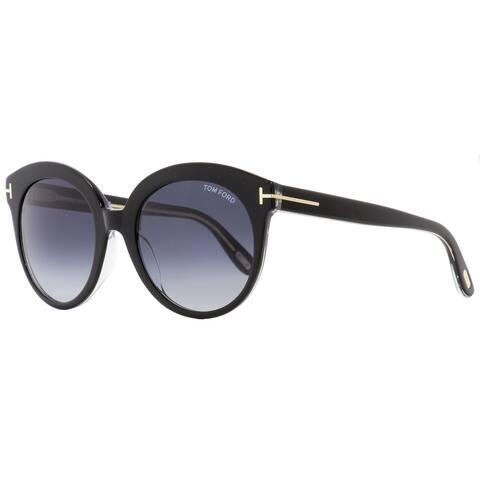 Tom Ford TF429 Monica 03W Womens Black/Clear 54 mm Sunglasses