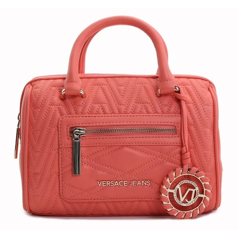 Versace Jeans Womens Chevron-Quilted Satchel