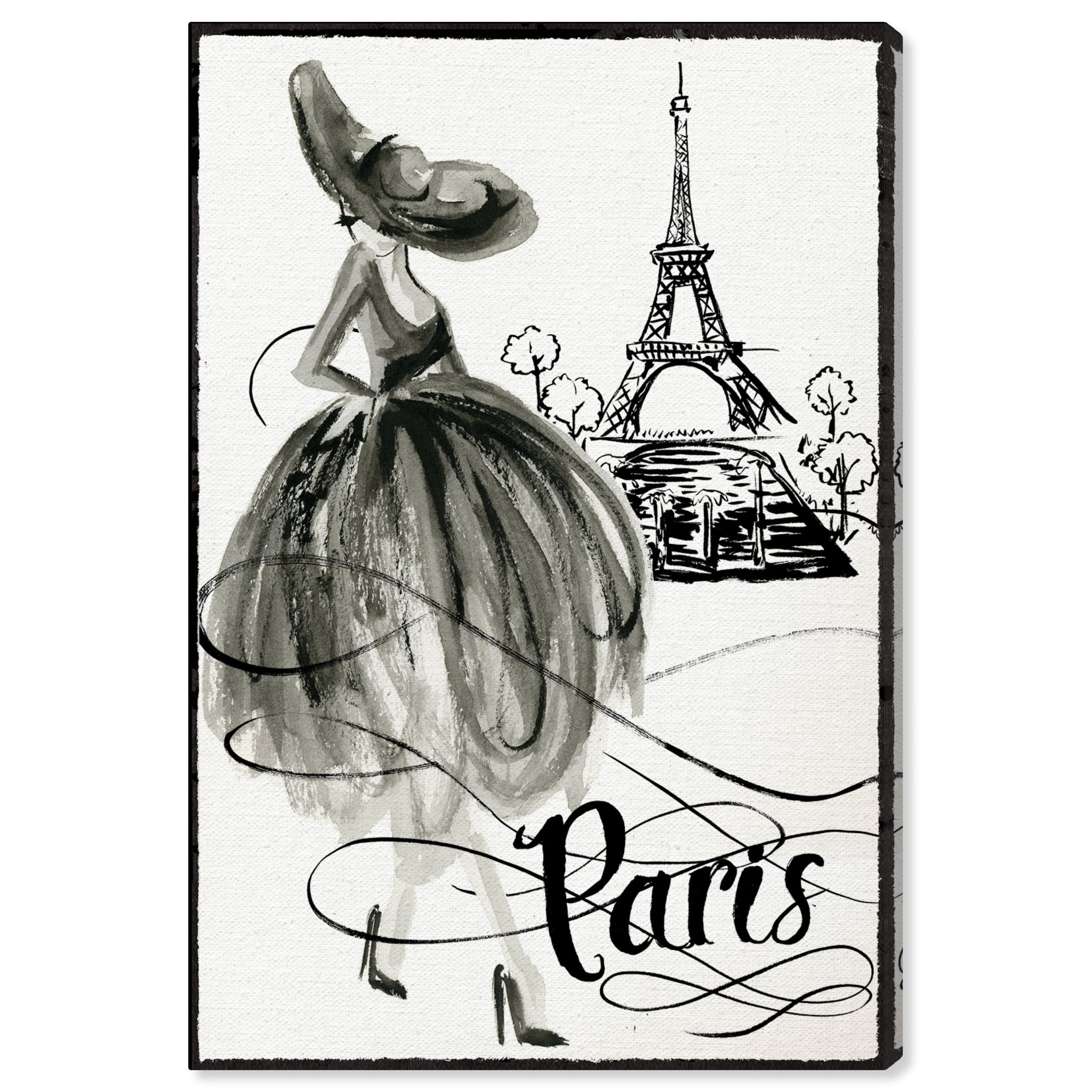 Shop Oliver Gal Fashion Doll Paris Ii Fashion And Glam Wall Art Canvas Print Black White Overstock 28596181