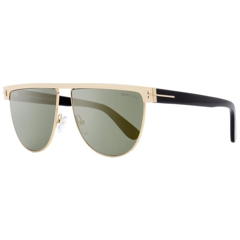 Tom Ford Stephanie-02 TF570 TF//570 28C Shiny Rose Gold Pilot Sunglasses 60mm