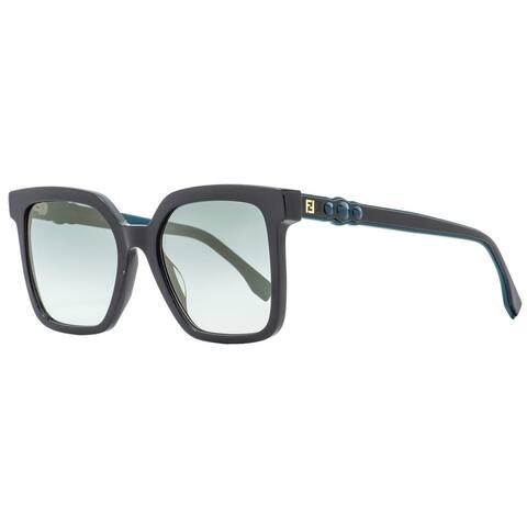 Fendi FF0269S KB7EZ Womens Dark Gray/Turquoise 54 mm Sunglasses - Dark Gray/Turquoise