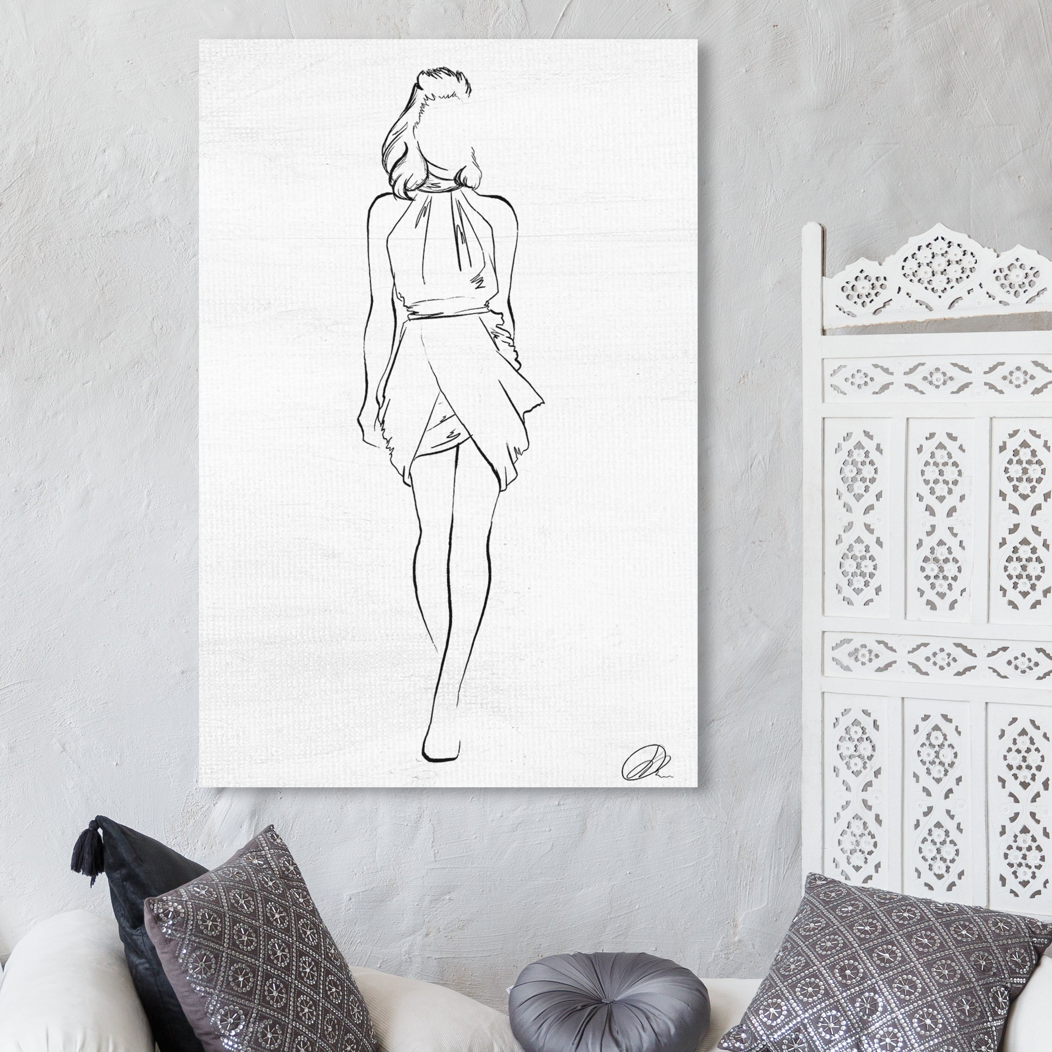 Shop Oliver Gal Fashion Sketch I Fashion And Glam Wall Art Canvas Print Black White Overstock 28596235