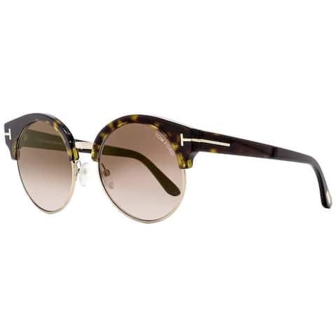 Tom Ford TF608 Alissa-02 52G Womens Havana/Gold 54 mm Sunglasses