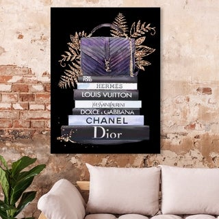 Oliver Gal 'I  love my purse' Fashion and Glam Wall Art Canvas Print - Purple, Black