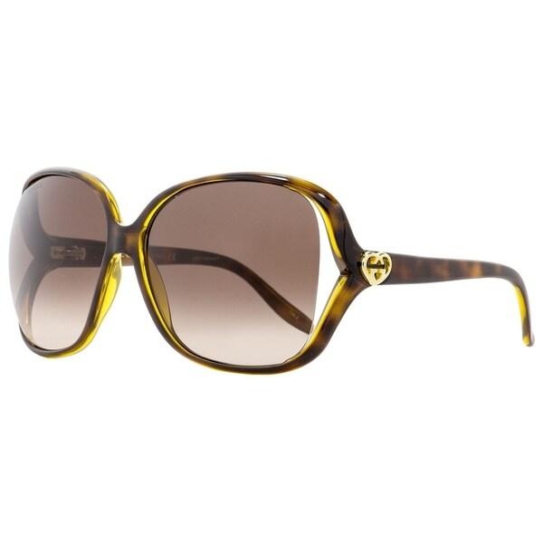 Shop Gucci GG0506S 005 Womens Havana 60 Mm Sunglasses