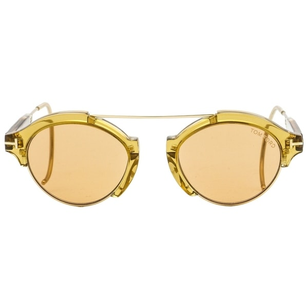 TOM FORD FARRAH-02 TF 631 52J Havana Gold Brown Cable Temples SUNGLASSES 49mm