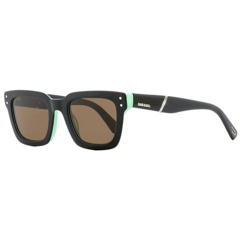 Diesel DL0231 05J Womens Black/Green 51 mm Sunglasses