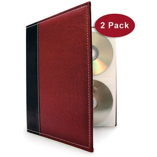 Burgundy CD/ DVD Storage Binder System (Pack of 2)
