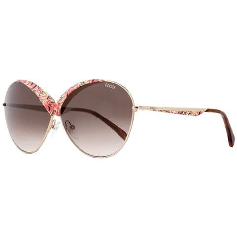 Emilio Pucci EP0029 33F Womens Gold/Havana 65 mm Sunglasses
