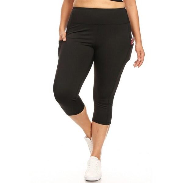 Womens Criss Cross Capri Skinny Plus Size Fitness Leggings Yoga Cropped Pants