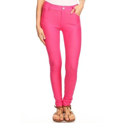 Women's Stretchy Cotton-Blend 5-Pocket Skinny Jeggings