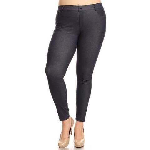 Women's Stretchy Cotton-Blend 5-Pocket Skinny Jeggings (Plus Size)