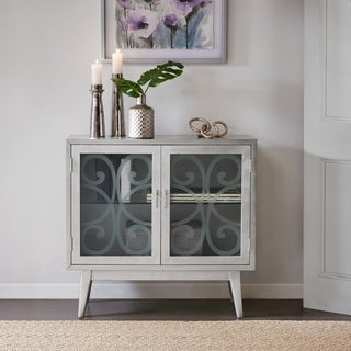 Madison Park Suzanne Silver grey 2 Door Accent Cabinet