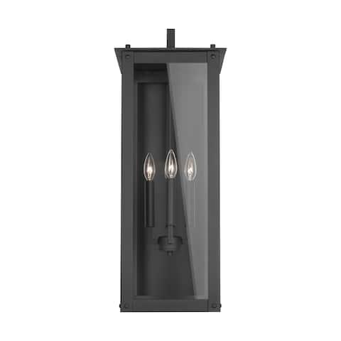 Hunt 4-light Black Outdoor Wall Lantern