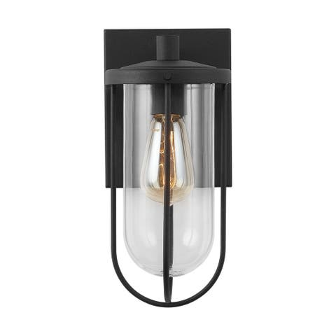 Corbin 1-light Black Outdoor Wall Lantern