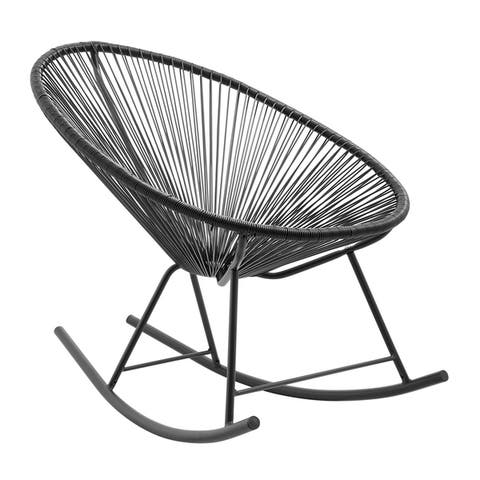 Corvus Sarcelles Modern Wicker Patio Rocking Chairs(Set of 2)