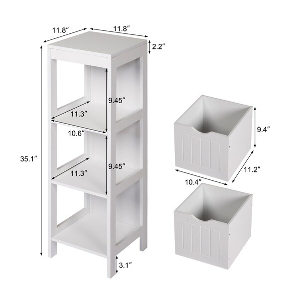 Color: Chrome, Material: Metal Bathroom Furniture Free Standing 2 Shelves Under Sink Storage Unit
