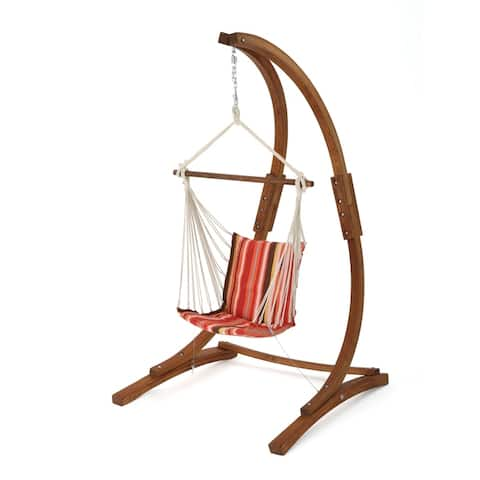 Griffith Outdoor Fabric Hanging Chair (Frame Not Included) by Christopher Knight Home