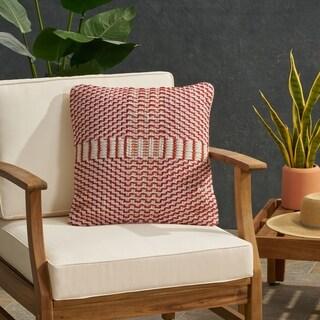 Regatta Bay Outdoor Boho Yarn Throw Pillow by Christopher Knight Home