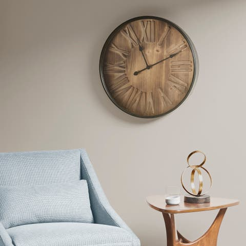 "INK and IVY Arden Brown Clock - 23.62""Lx23.62""Wx2.17""H"