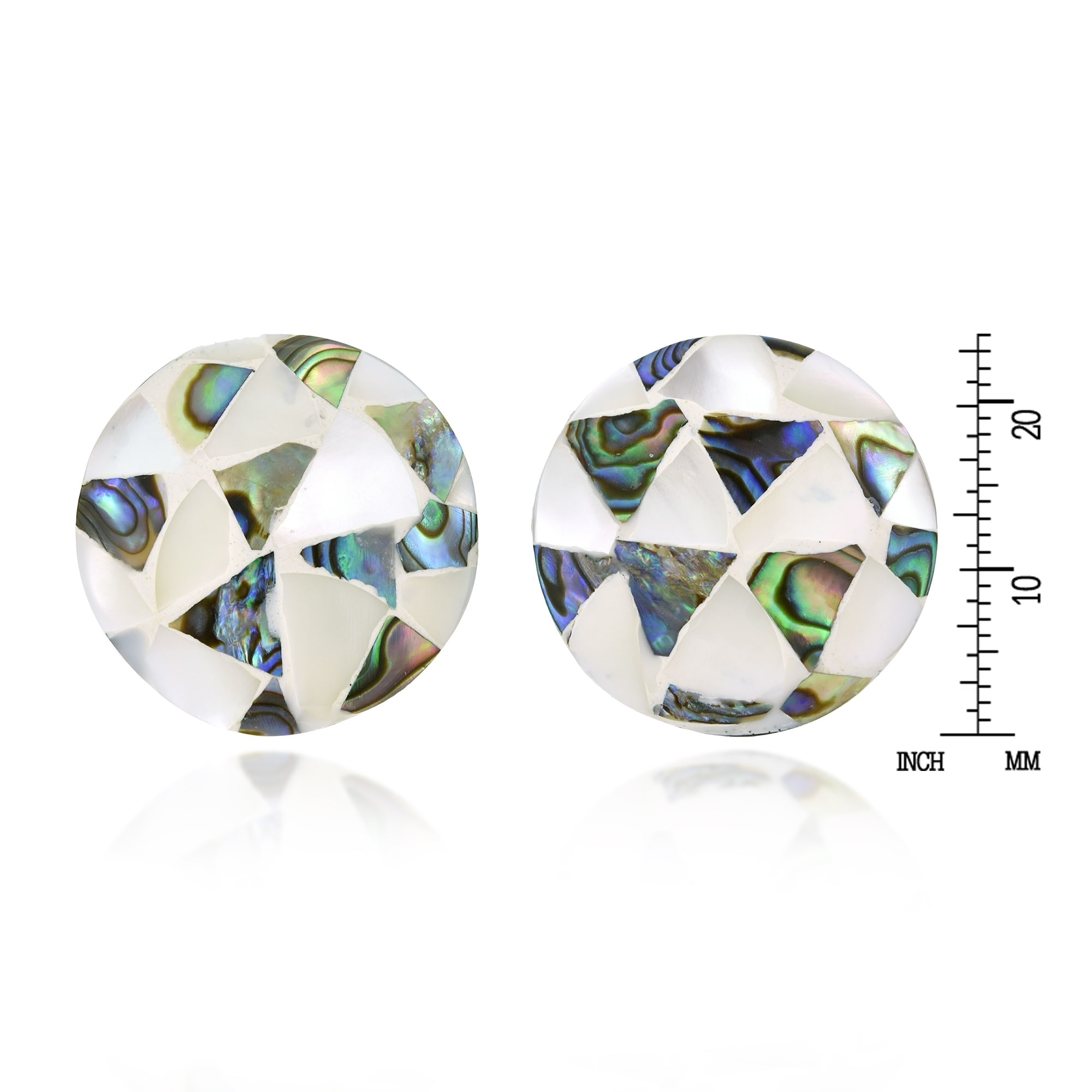 Classic Earring Mosaic Color Mother Shell Earring
